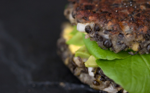 Lentil, Black Bean and Edamame Burgers | TastyBits Recipes