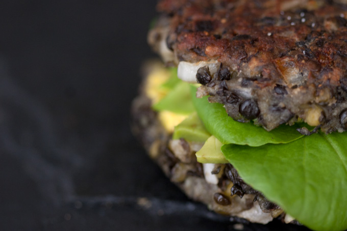 Lentil, Black Bean and Edamame Burgers | Vegetarian Burger Recipe | TastyBits