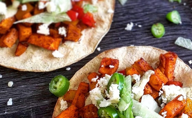 Roasted Sweet Potato & Bell Pepper Tostadas | #TastyTuesday | Tastybits