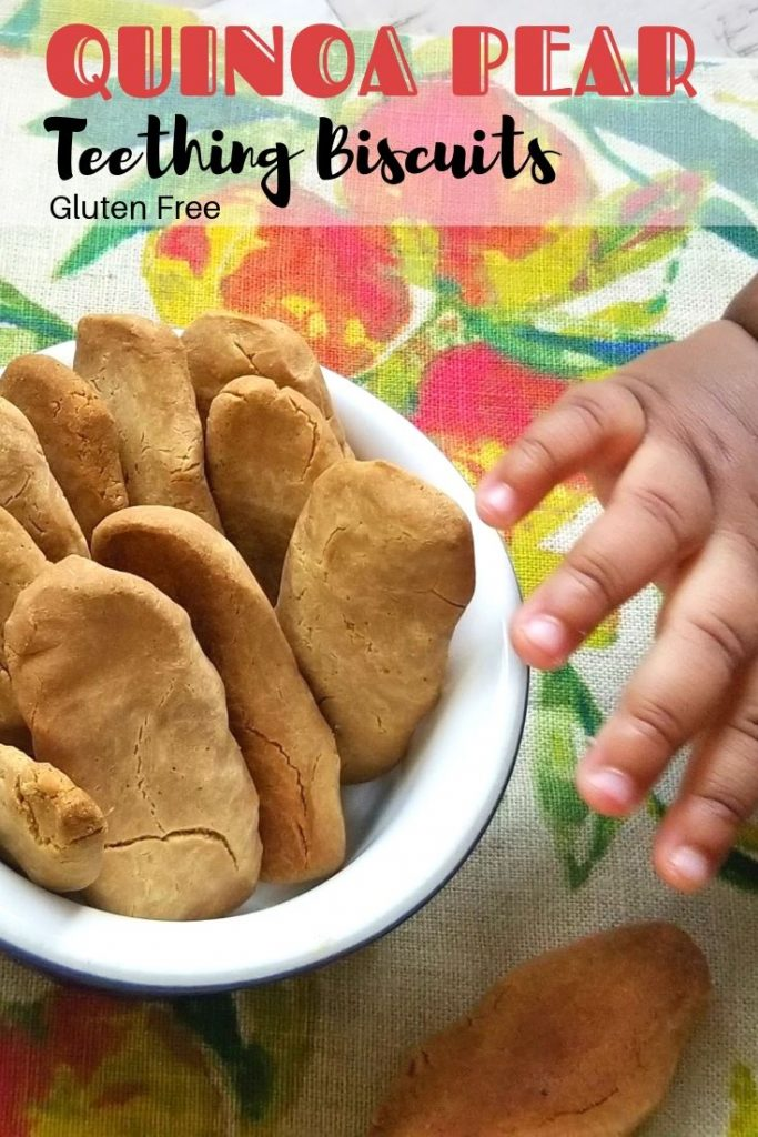 gluten-free quinoa pear teething biscuits