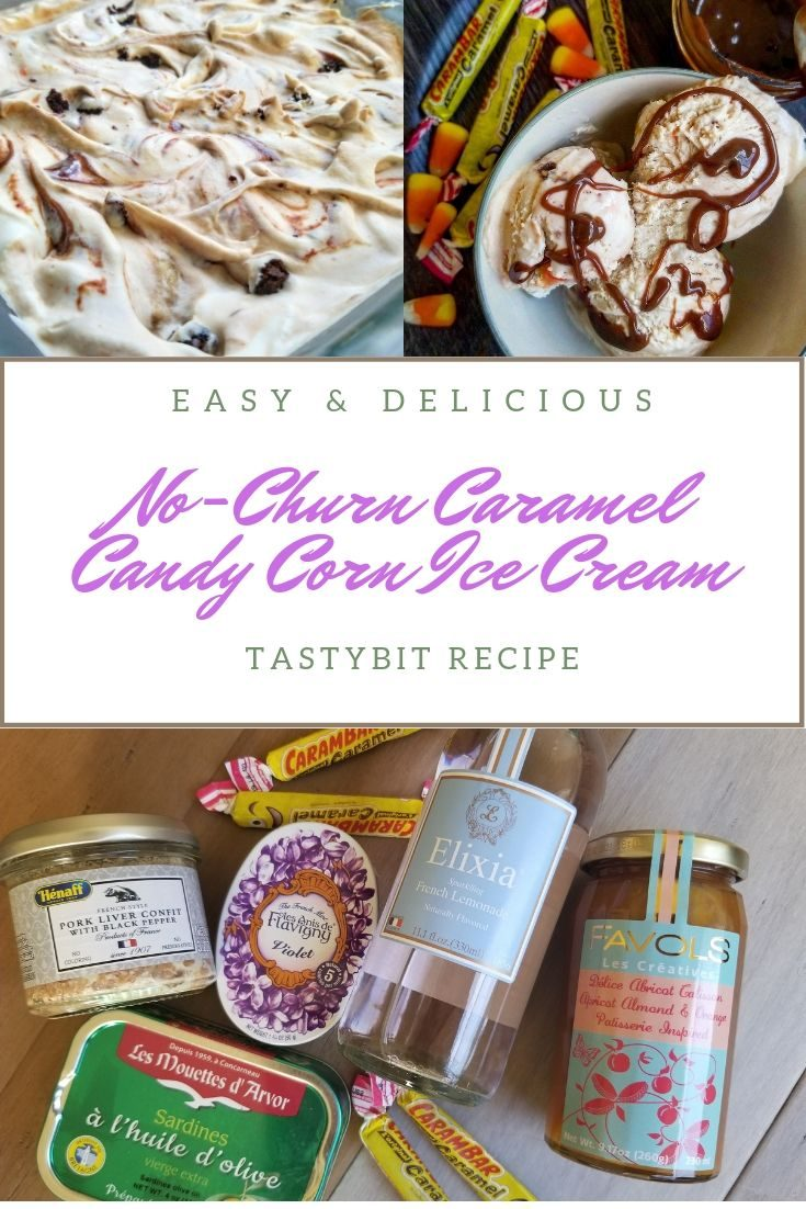 NO-CHURN CARAMEL CANDY CORN ICE CREAM RECIPE