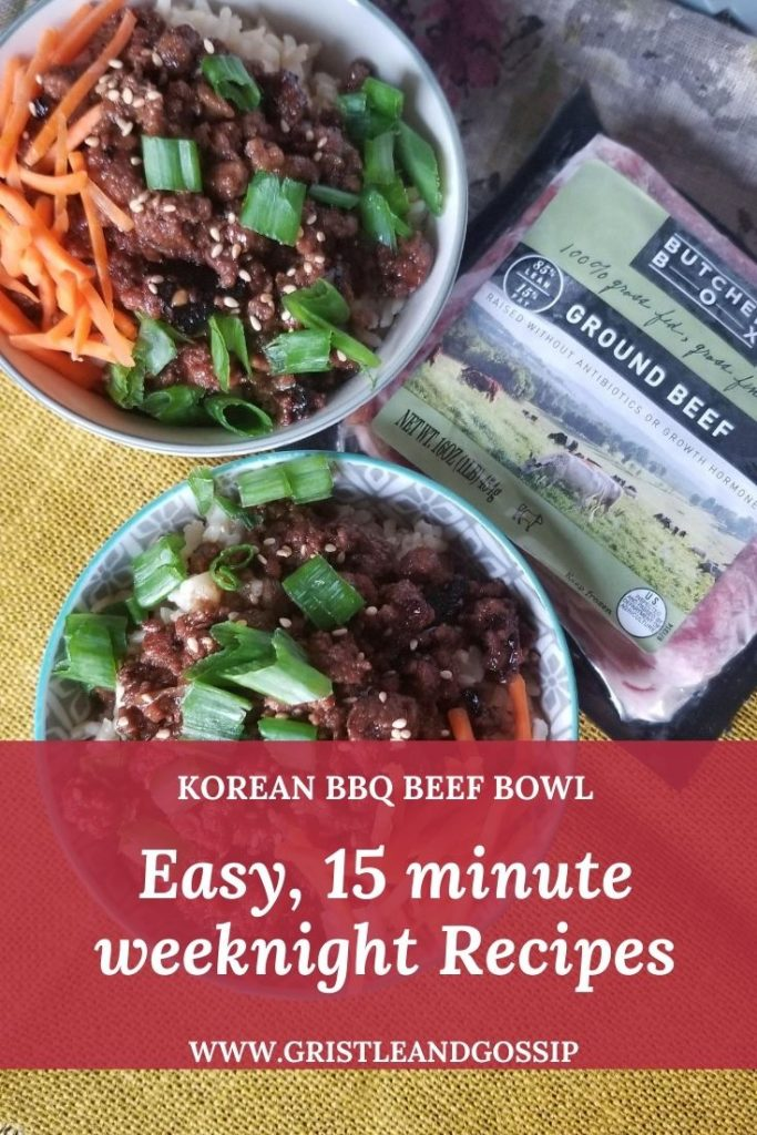 Korean BBQ Beef Bowls Recipe
