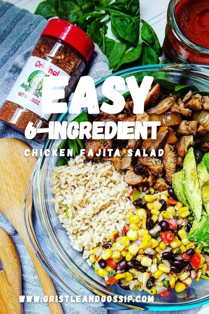 Easy 6-Ingredient chicken fajita salad