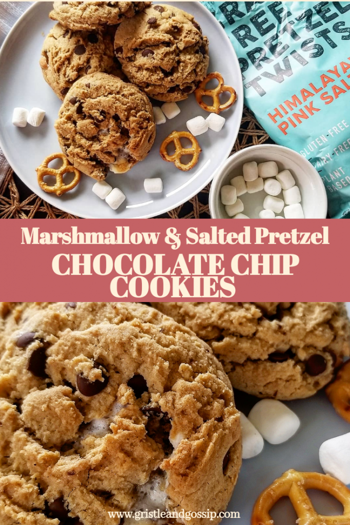 Salty Marshmallow Chocolate chip cookies