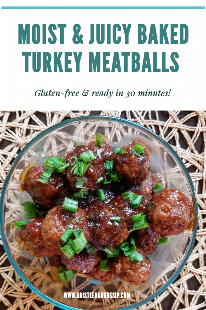 Tangy Baked BBQ Turkey meatballs