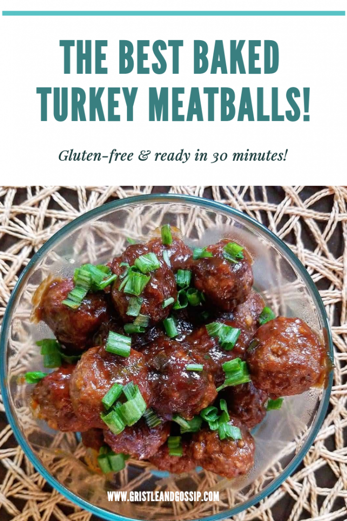 Baked BBQ Turkey meatballs - Gristle and Gossip (6)