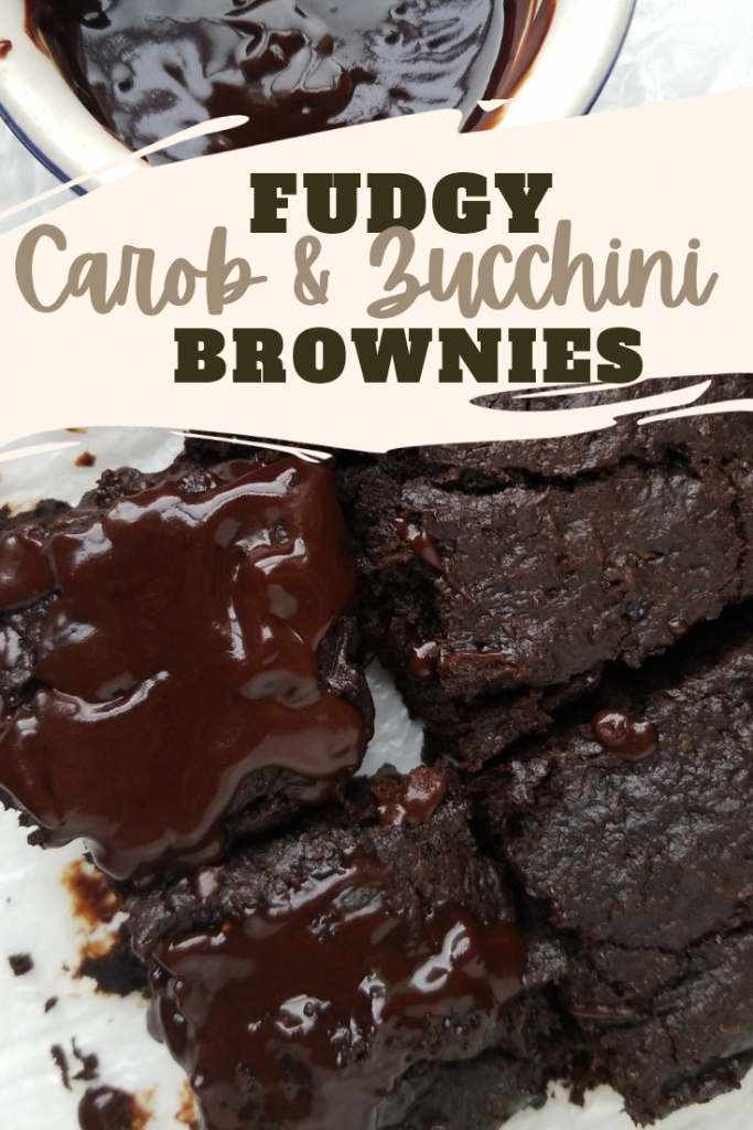 Fudgy Carob and Zucchini Brownies