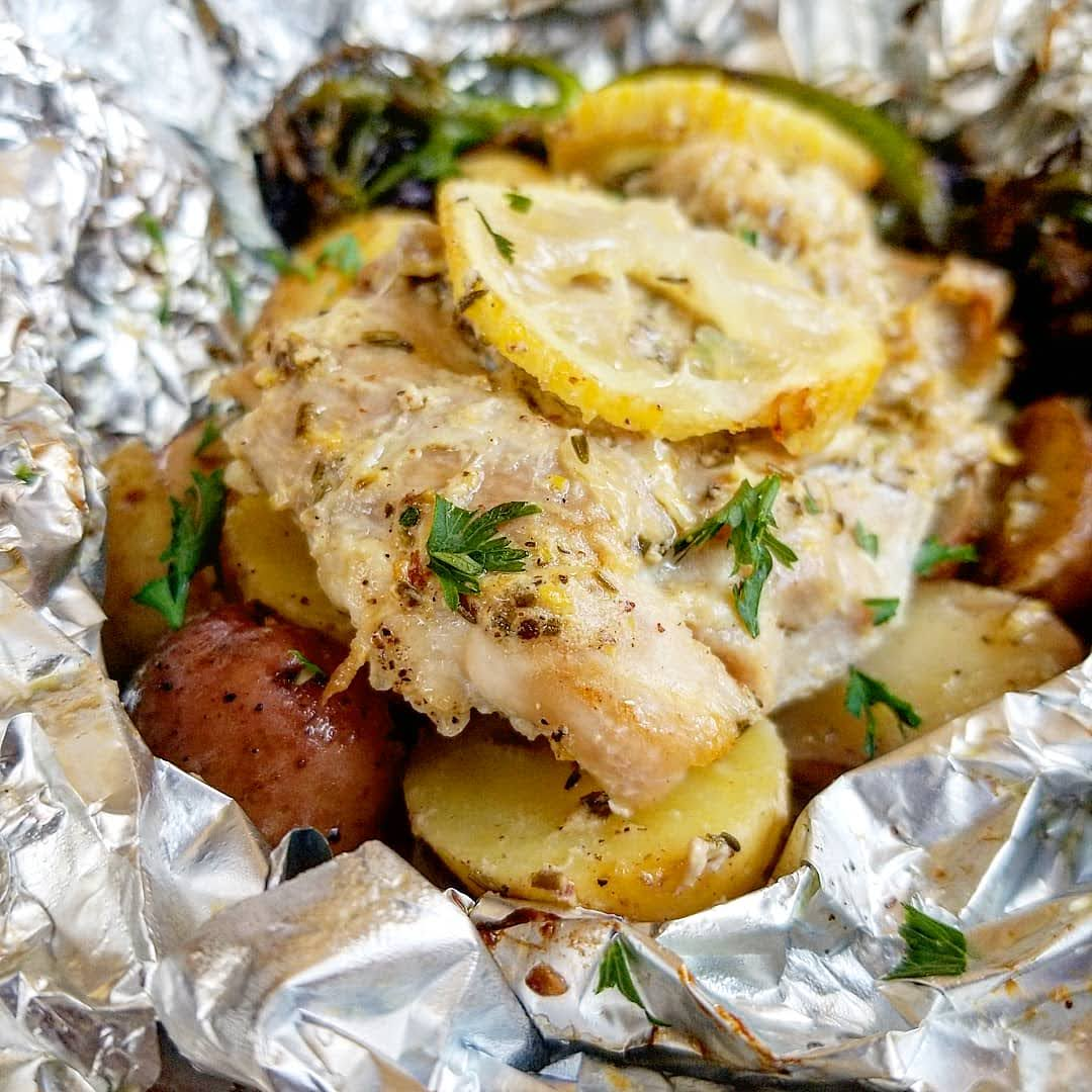 Lemon Chicken and Potatoes in Foil (2)
