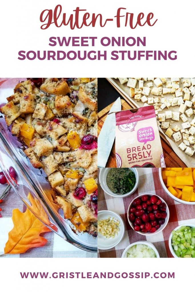 Gluten-Free sweet onion Sourdough stuffing