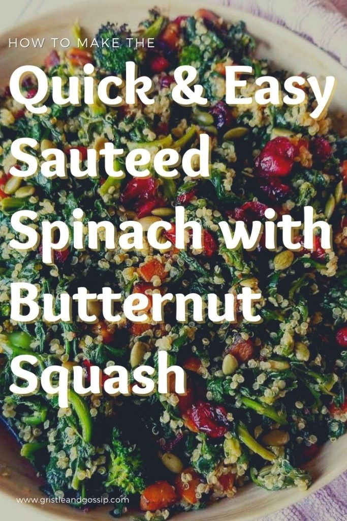 Easy Sauteed Spinach with Butternut Squash and Broccoli