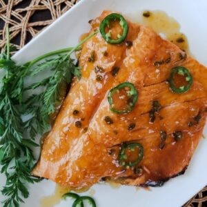 Spicy Pineapple Passion fruit glazed Salmon (2)